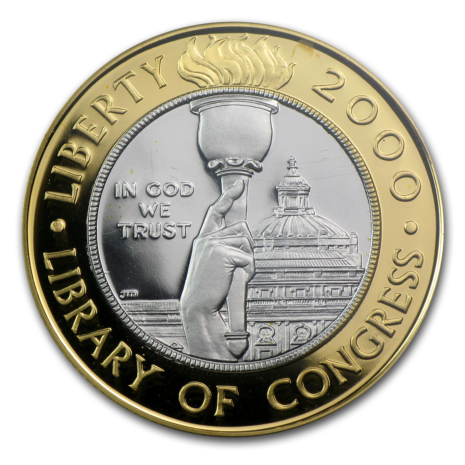 2000-W Library of Congress - $10 Gold Commem - PR-69 DCAM PCGS
